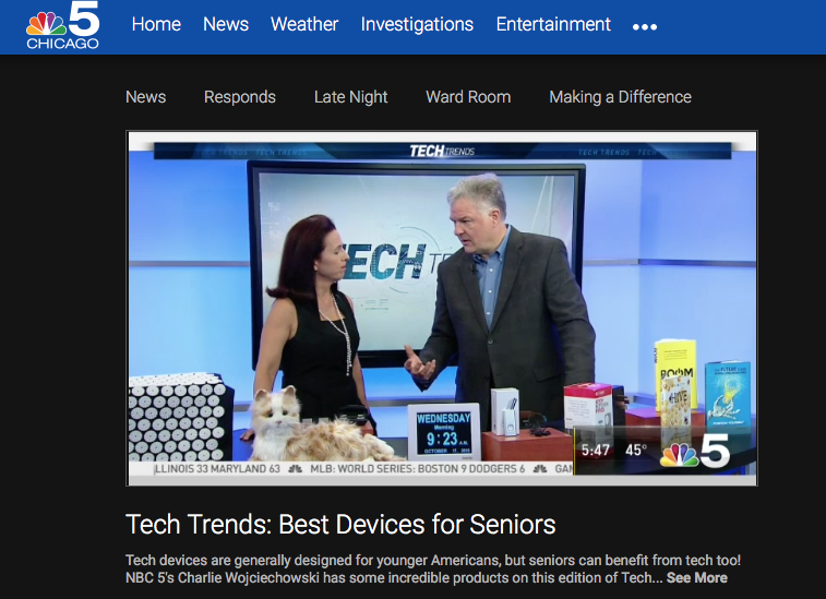 Lisa on NBC Chicago Tech Trends Best Living Tech
